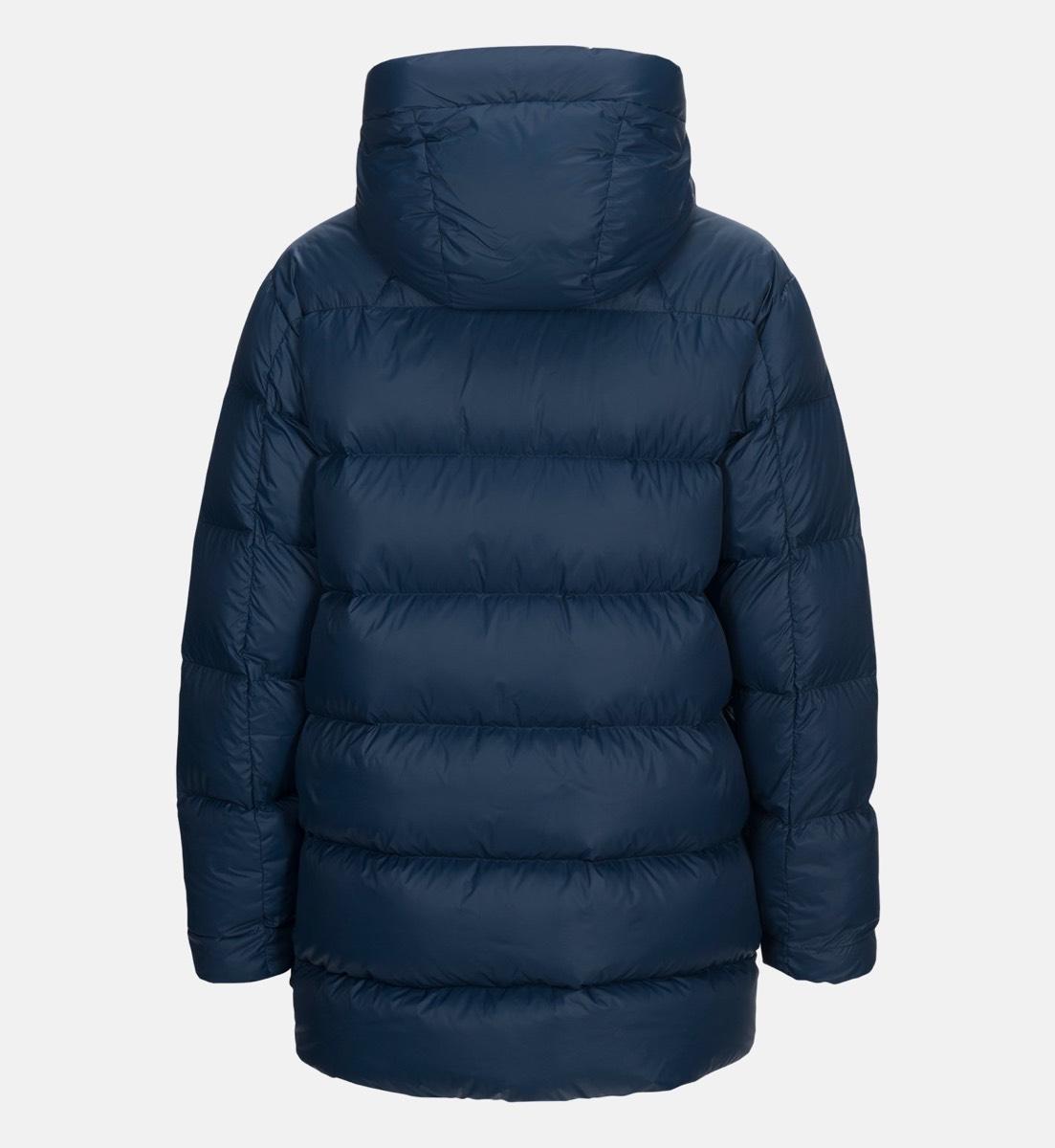 74ed76d18f94 Peak Performance Frost Down Long Jacket Decent Blue   Tindeberg.se