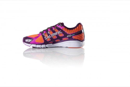 Salming Speed 5 Shoe Women Shocking Orange/Dark Orchid