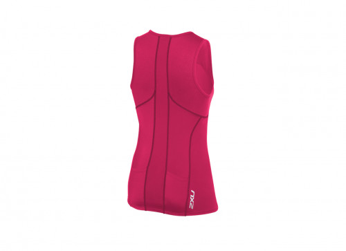 2XU Active Tri Singlet- W Cherry Pink/Ink