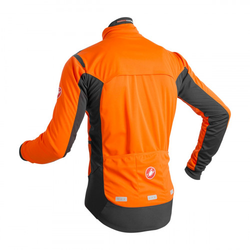 Castelli Alpha Ros Jacket Orange/Black