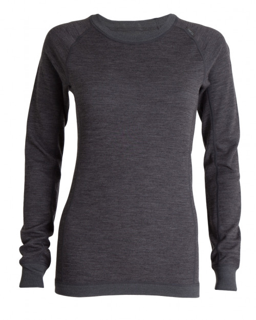 Tufte Wear Womens Bambull Crew Neck Dark Grey Melange / Forged Iron
