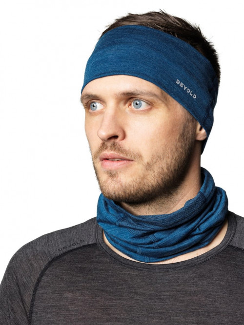 Devold Running Headband Anthracite