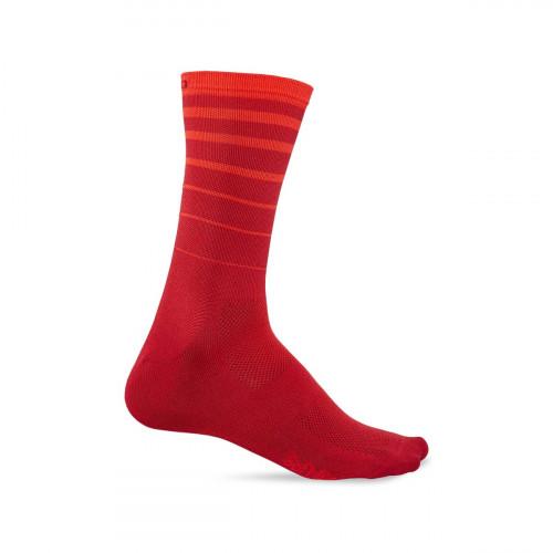 Giro Sokk Comp Racer Lang Dark Red/Bright Red