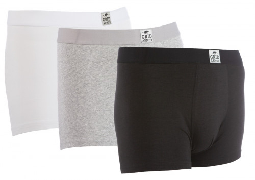 Gridarmor Boxer BambCotton 3-pakk Black/Grey Melange/White