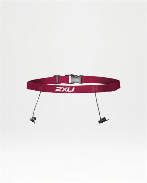 2XU Race Belt With Loops- U Cherry Pink/Cherry Pink