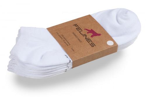 Felines Bamboo Ankle Sock White 3-pakk White