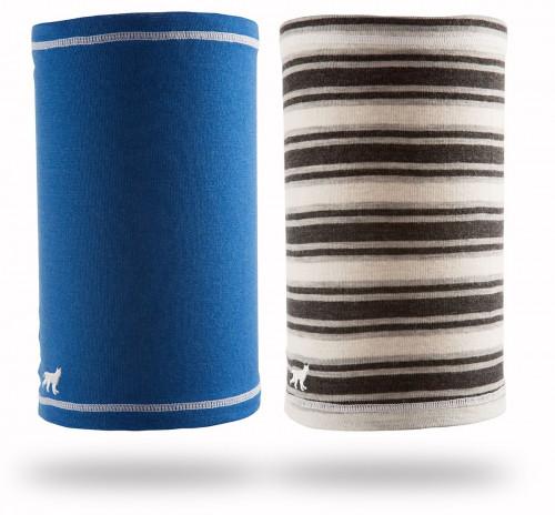Felines Headover 100% Merino 2pk Dame Solid Blue/Stripes Grey