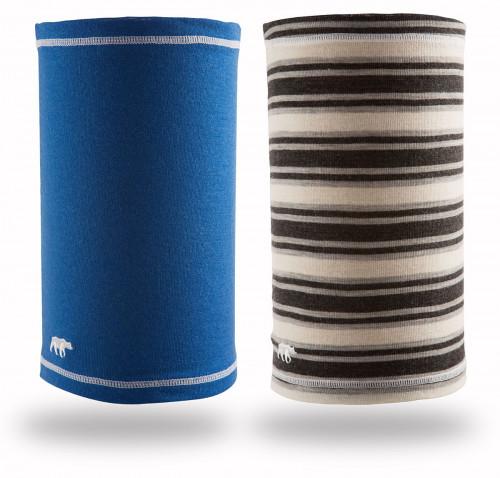 Gridarmor Headover 100% Merino 2pk Solid Blue/Stripes Grey