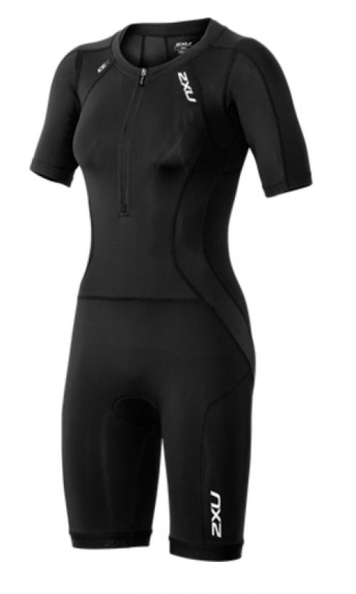 2XU Compression sleeved full zip trisuit dame sort