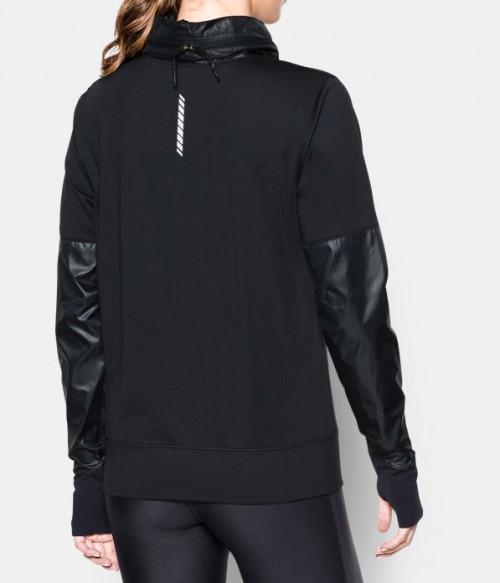 Under Armour Women's Threadborne Hybrid Pullover Black