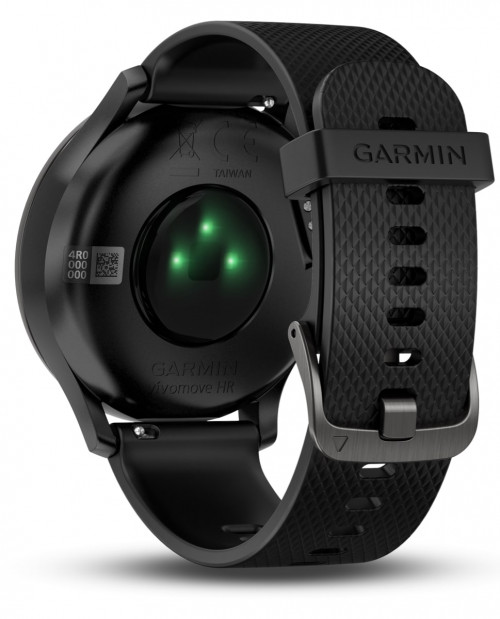 Garmin Vívomove® Hr Black, Black Silikone L