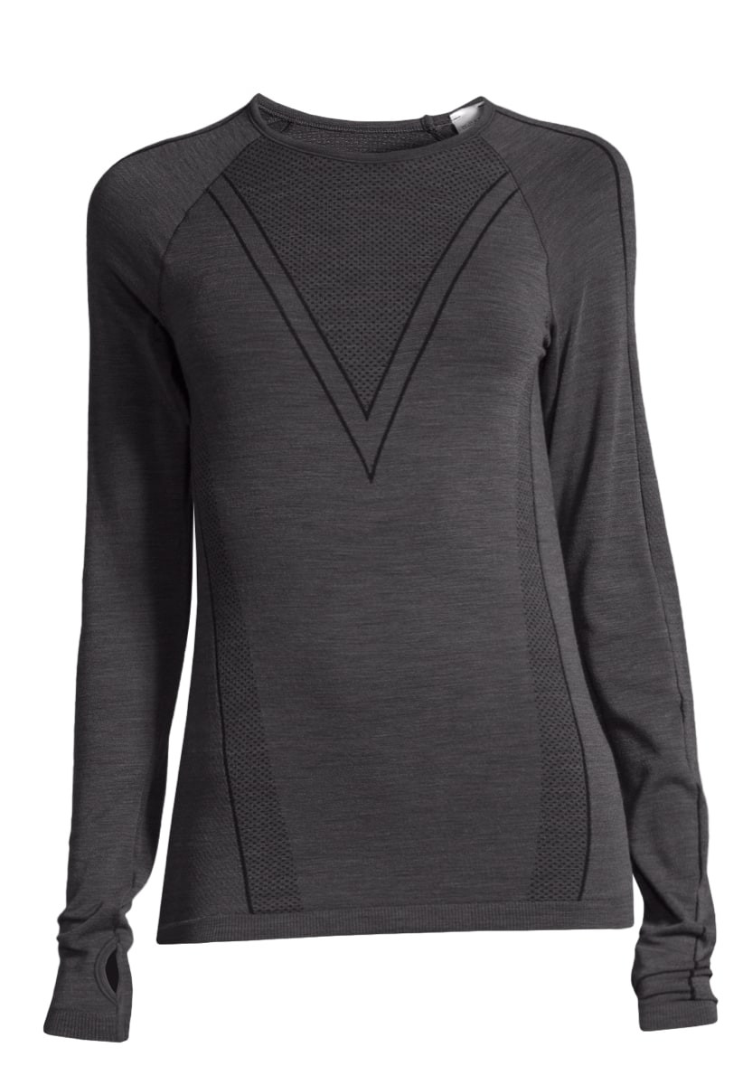 cb02ed6d Casall Seamless Wool Long Sleeve Charcoal Grey | Supersport.no