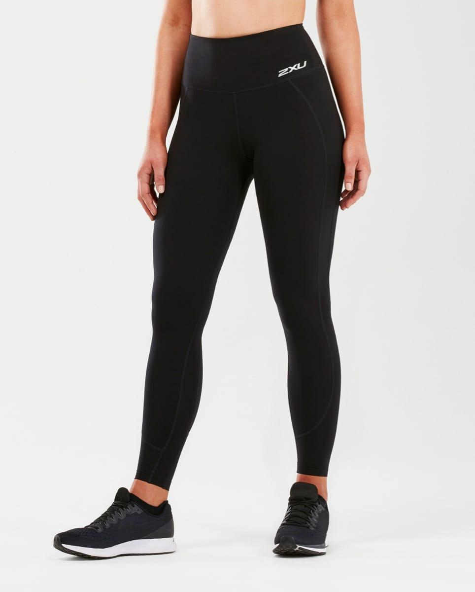 2dd9cf33 2XU Fitness Hi-Rise Comp Tights Dame Black/Black | Supersport.no