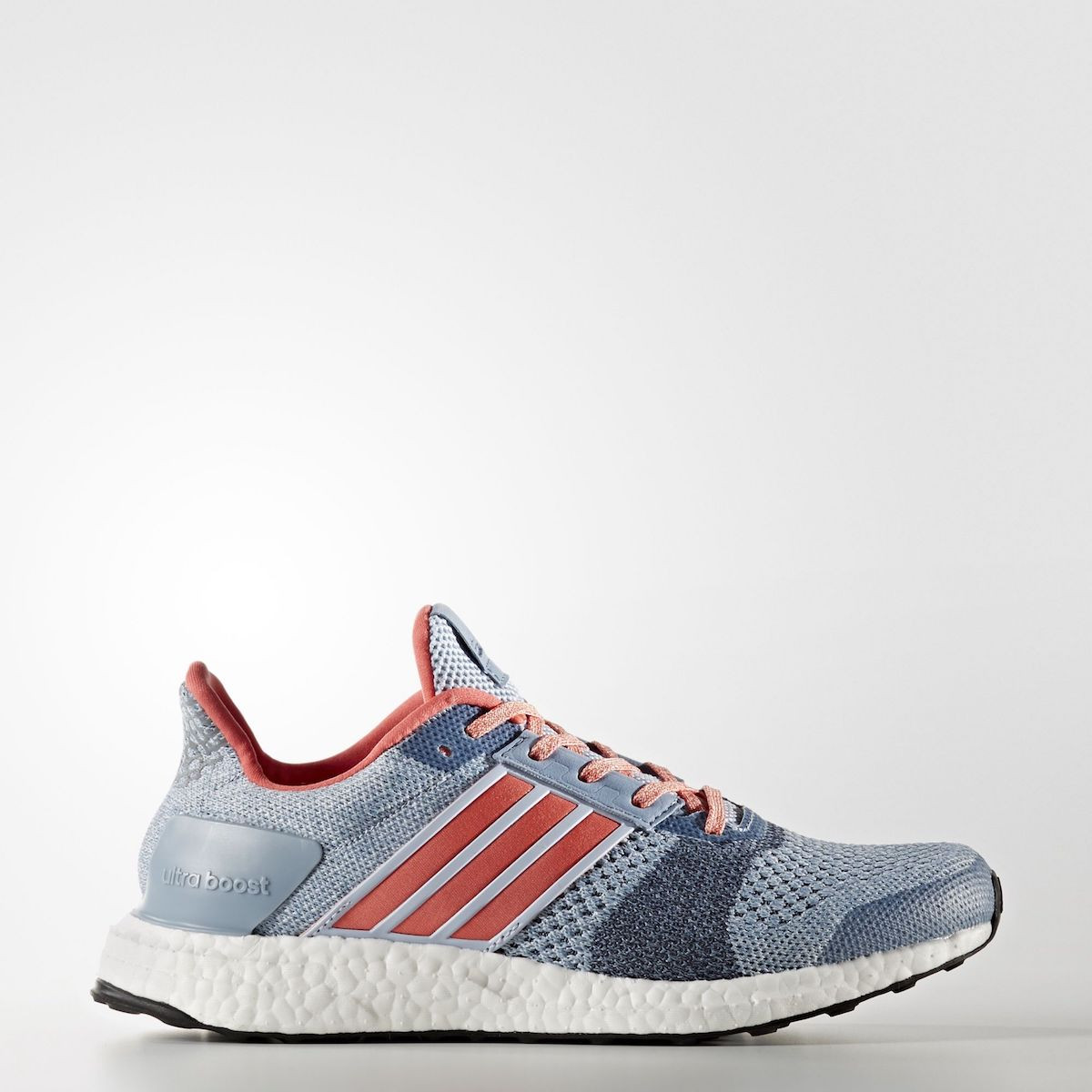 ... Adidas Ultra Boost ST Shoes Women's Easy Blue/Haze Coral/Dark Grey  Heather Solid ...