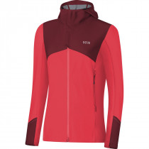 Gore® R3 Women Gore® Windstopper® Hooded Jacket Hibiscus Pink/Chestnut Red