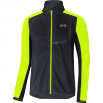 Gore® C3 Gore® Windstopper® Jacket Black/Neon Yellow