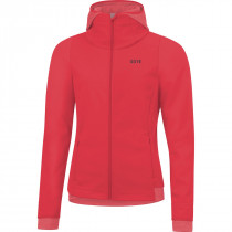 Gore® R3 Women Gore® Windstopper® Thermo Hoodie Hibiscus Pink