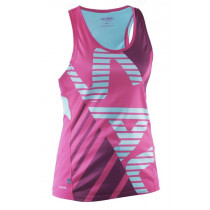 Salming Run Race Singlet Women Pink Glo/Turquoise
