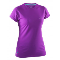 Salming Run Tee Women Purple Cactus Flower