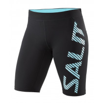 Salming Run Power Tights Women Black/Turquoise
