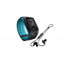 TomTom Runner 2 Cardio GPS music + hodetelefoner blue/scuba blue