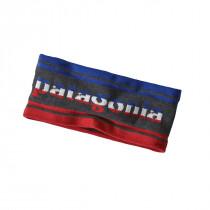 Patagonia Lined Knit Headband Park Stripe Band: Forge Grey