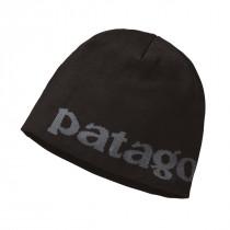 Patagonia Beanie Hat Logo Belwe: Black
