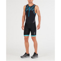 2XU Active Trisuit M Black/Retro Dresden Blue