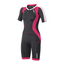 2XU Compression Sleeved Trisuit- W Ink/Cherry Pink