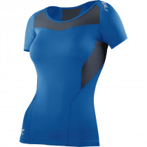 2XU Compression Top Short Sleeve Dame, Blå/Grå
