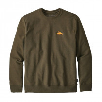 Patagonia M Small Flying Fish U-Crew Swtshrt Sediment