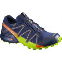Salomon Shoes Speedcross 4 Gtx Medieval Blue/Acid Lime/Graphite