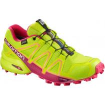 Salomon Shoes Speedcross 4 Gtx Women's Lime Green/Virtual Pink/Bird Of Par