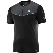 Salomon Fast Wing Hz SS Tee Men's Black/Forged Iron