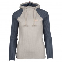 Amundsen Sports Booiled Hoodie Woman Oatmeal/Faded Blue