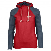 Amundsen Sports Booiled Hoodie Woman Weathered Red/Faded Blue