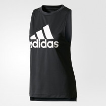 Adidas Boxy Logo Tank Black