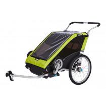 Thule Chariot Cheetah XT 2 Sykkelvogn, Stroll & Bike (Chartreuse)