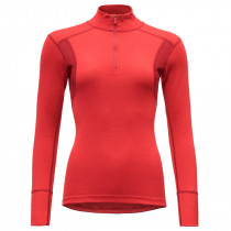 Devold Hiking Woman Half Zip Neck Chilli