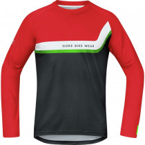 Gore Bike Wear Power Trail Jersey Long Red/Black