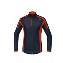 Gore Running Wear Air Zip Shirt Long Black Iris Orange.Com c8b61f2b6