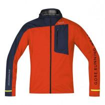 Gore Running Wear® Fusion Windstopper® Active Shell Jacket Orange.Com/Black Iris