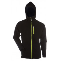 Gridarmor M's Fleece Afternoon Hoodie 1/1 Zipper Black Beauty & Lime Zipper