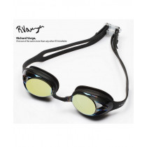 Huub Varga Gold Mirror Smoke Lens, Black Frame