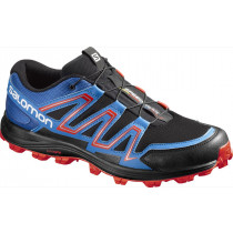 Salomon Speedtrak Black/Blue Yonder/Lava Orange