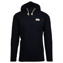 Amundsen Sports Boiled Hoodie Ribbed Mens Faded Navy