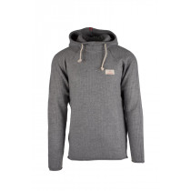 Amundsen Sports Boiled Hoodie Ribbed Mens Light Grey