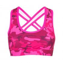 Mitchi Sportswear Elida Cross Top Camu Pinkberry