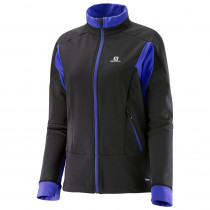Salomon Momemtum Softshell Jacket Women's Black/Phlox Viol