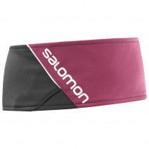 Salomon Rs Headband Black/Beet Red
